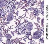 seamless floral pattern.... | Shutterstock .eps vector #270719051