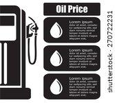 oil station price display.... | Shutterstock .eps vector #270722231
