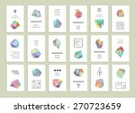 collection of creative cards.... | Shutterstock .eps vector #270723659