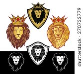 lion head in signs and labels | Shutterstock .eps vector #270723779