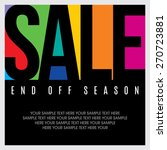 sale design template vector | Shutterstock .eps vector #270723881