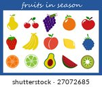 fruits collection   Shutterstock . vector #27072685