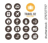 travel icons. vector... | Shutterstock .eps vector #270727757
