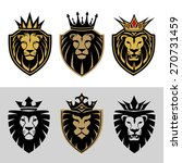 lion head in signs and labels | Shutterstock . vector #270731459