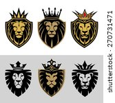 Lion Head In Signs And Labels