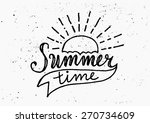 hand drawn typographic design ... | Shutterstock .eps vector #270734609