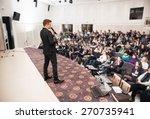 speaker at business conference...   Shutterstock . vector #270735941