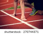 young athlete ready to start | Shutterstock . vector #270744371