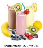 milk  banana  drink. | Shutterstock . vector #270745241