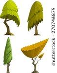 set of four stylized cartoon...   Shutterstock .eps vector #270746879