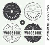 set of vintage sawmills labels  ...   Shutterstock .eps vector #270747401