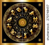 circle with signs of zodiac....   Shutterstock .eps vector #270748457