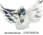 Stock vector hand drawn flying owl illustration watercolors vector 270750374