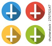 set of 4 isolated flat colorful ...