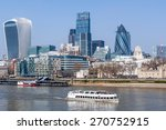 Skyline Of City Of London On A...