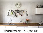 new kitchen in a very modern... | Shutterstock . vector #270754181