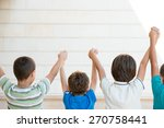 group of happy children | Shutterstock . vector #270758441