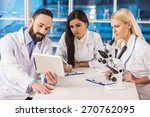 science team are looking at the ... | Shutterstock . vector #270762095
