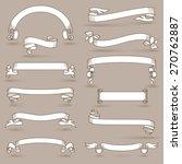 blank vintage announcement... | Shutterstock .eps vector #270762887