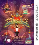 Circus Show Poster With Acrobat ...