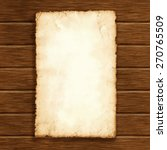 piece of old paper on wood... | Shutterstock .eps vector #270765509