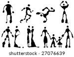 vector set of figure black and... | Shutterstock .eps vector #27076639