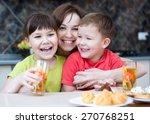 Mother With Happy Children...