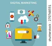 digital marketing  vector... | Shutterstock .eps vector #270768551