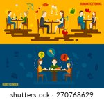 people in restaurant horizontal ... | Shutterstock .eps vector #270768629