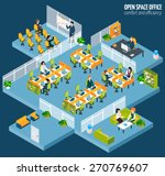 open space office with... | Shutterstock .eps vector #270769607
