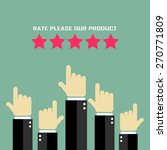 product rating poster   Shutterstock .eps vector #270771809