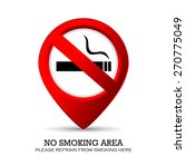 no smoking area marker | Shutterstock .eps vector #270775049