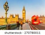 big ben and red double decker... | Shutterstock . vector #270780011