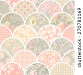 seamless patchwork pattern with ... | Shutterstock .eps vector #270781169
