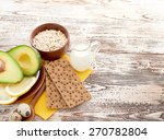 fresh avocado on cutting board... | Shutterstock . vector #270782804