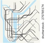 new york subway map | Shutterstock .eps vector #270785174