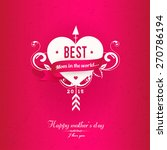pink  mothers's day greeting... | Shutterstock .eps vector #270786194