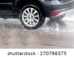 car driving in the rain on a... | Shutterstock . vector #270788375