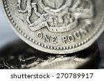 pound symbol  one pound coin ... | Shutterstock . vector #270789917