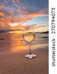 wine glass on the beach in...   Shutterstock . vector #270794075