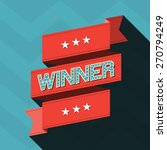winner  ribbon concept design | Shutterstock .eps vector #270794249
