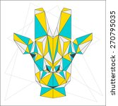 abstract geometric giraffe... | Shutterstock .eps vector #270795035