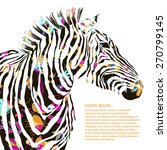 animal watercolor illustration... | Shutterstock .eps vector #270799145