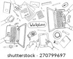 concept of hand drawn business... | Shutterstock .eps vector #270799697