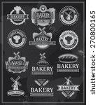 set of retro vintage bakery...   Shutterstock .eps vector #270800165
