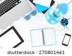 workplace  top view | Shutterstock . vector #270801461