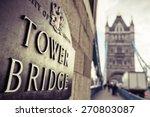 Tower Bridge London Plaque In...