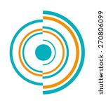 a semicircle and radial... | Shutterstock .eps vector #270806099