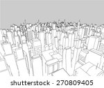 elegant vector city | Shutterstock .eps vector #270809405