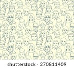 seamless pattern with ... | Shutterstock .eps vector #270811409